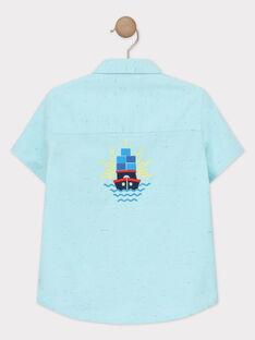 Hemd für Jungen, türkis TUFLAGE / 20E3PGW1CHM209