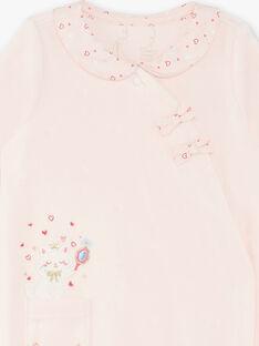 Baby Mädchen rosa Strampler ZECHAT / 21E5BFH1GRED326