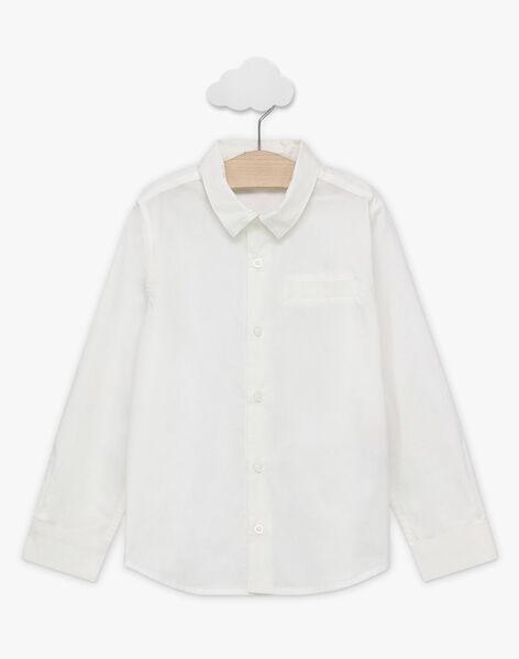 Hemd mit abnehmbarer Fliege für Jungen, weiß TICHEMAGE / 20E3PGJ5CHM001