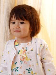 Weiße Baby-Mädchen-Weste ZANINON / 21E1BFO1CAR000