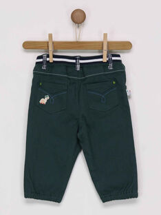 Dark green pants PAMATHIEU / 18H1BGH2PAN060