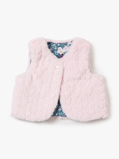 Pale rose SLEEVELESS CARDIGAN VAORELIE / 20H1BFW2CSM301