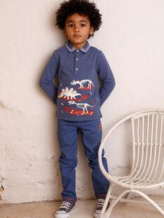 Blaues Polohemd für Jungen ZECLOAGE / 21E3PGB1POLC230