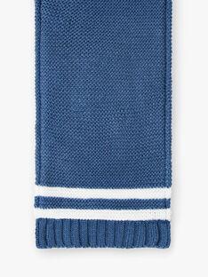 Gestrickter blauer Enzian-Schal ZUBADOUR / 21E4BGM1ECHC230
