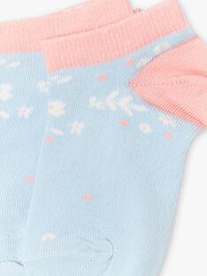 Hellblaue und rosa Socken ZUCAETTE / 21E4PFT1SOB201