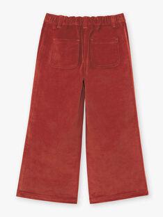 Dunkelrote Hose mit weitem Bein für Mädchen BUBLETTE / 21H2PFJ1PAN821
