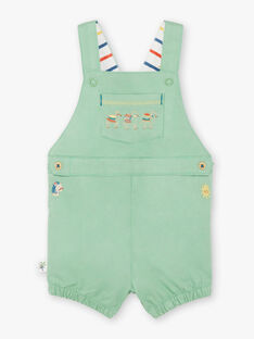 Baby Junge kurze grüne Latzhose TARABI / 20E1BGQ1SAC611