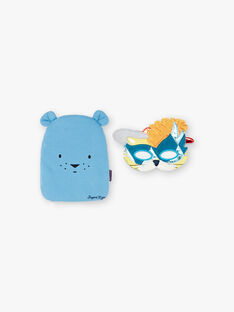 Blauer ausgefallener Pyjama mit Tasche und Maske für Jungen und Mädchen ZIPIMAGE3 / 21E5PGF3PYT702