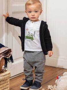 Baby Boy's schwarz-weiß karierte Hose BADARIUS / 21H1BG21PAN090