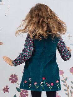 Baby Mädchen Kord bestickt ärmelloses Kleid BOERINETTE / 21H2PF91CHS714