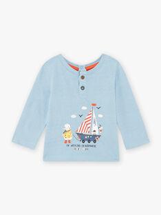 Baby Junge Blaues Schaf und Boot T-Shirt BANOA / 21H1BGL1TML205