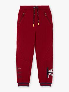 Rote Jogging-Shorts für Jungen BEGLIAGE / 21H3PG53PAN503