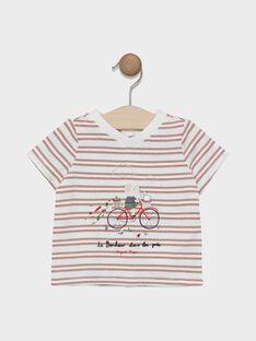 Kurzärmeliges T-Shirt Baby Junge mit Streifen SADENVER / 19H1BG31TMC000