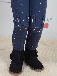 Baby Mädchen blau Polka Dot Leggings BYGOETTE / 21H4PFL1CAL715