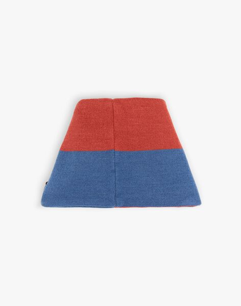 Blau und rot gestricktes Kropfband ZANECAGE / 21E4PGM1SNO506