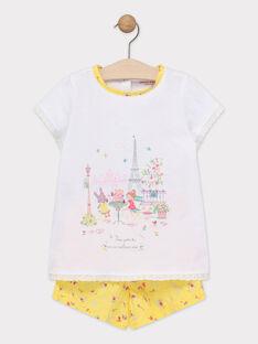 Kurzer Schlafanzug für kleine Mädchen TEJAPETTE / 20E5PFE3PYJ001