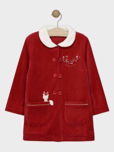 Rosa Samtmorgenmantel mit Kunstpelzkragen für kleine Mädchen SOBICHETTE / 19H5PFQ1RDC511