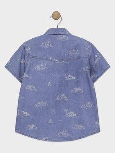 Blaues Hemd mit Aufdruck Jungen TICLOAGE / 20E3PGO1CHMP265