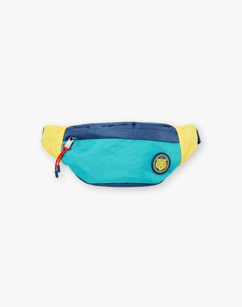 Blaue und gelbe Tiger Bananen Tasche ZABANAGE / 21E4PGI1BES705