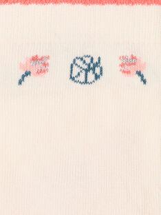 Niedrige Socken hellrosa Shell-Finish ZEPUETTE / 21E4PFI1SOBD319
