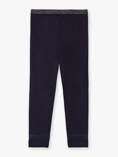Einfarbig nachtblaue Leggings für Kinder BRONETTE 3 / 21H4PFB1CTTC214