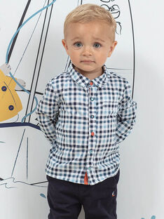 Baby Junge blau kariertes Hemd BANIELS / 21H1BGL1CHM205