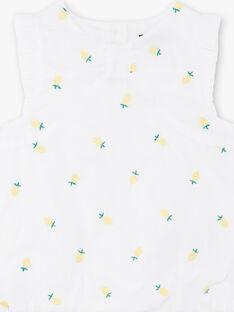 Weißer Baby Mädchen Strampler ZANELLY / 21E1BFO1BAR000