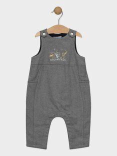 Baby-Latzhose aus aufgerauhtem Twill für Jungen SYBERTIN / 19H0CGM1SAL944