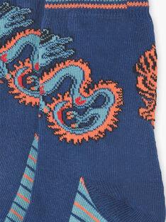 Blaue und orangefarbene Tiger- und Drachensocken ZAGNAGE / 21E4PGI1SOQ705