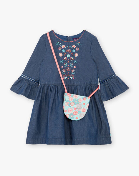 Blaues Denim-Kleid und Taschen-Set ZETOUNETTE / 21E2PFI1ROBK005