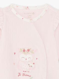 Rosa Baby Mädchen Strampler und Mütze BOUDY B / 21H0NF41GRE301