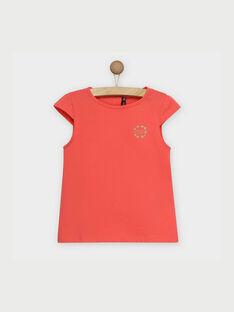 Rosa kurzärmeliges T-Shirt RUFAPETTE 2 / 19E2PFH3TMC404