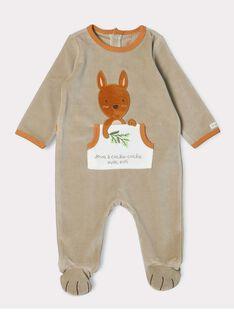 Taupefarbener Baby-Strampler für Jungen SERICKY / 19H5BGK1GRE803