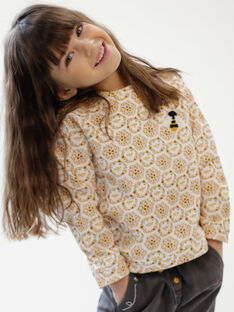 Sweatshirt Kind Mädchen ZESWETTE 1 / 21E2PF91SWE001