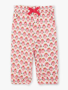 Baby Girl's Light Pink Floral Print Pants TASARA / 20E1BFQ1PCOD317