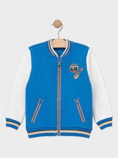 Molton-Jacke für Jungen, blau TEGILAGE / 20E3PGG1GILC212