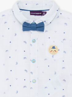 Baby Boy's White & Blue Bike & Triangle Shirt TYHIRO / 20E1BGZ2CHM000