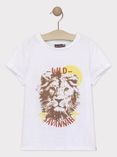 Kurzärmeliges T-Shirt für Jungen, ecru TYPOLAGE / 20E3PGM1TMC000