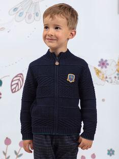 Marineblaue Strickjacke für Jungen BETILAGE / 21H3PG91GIL715