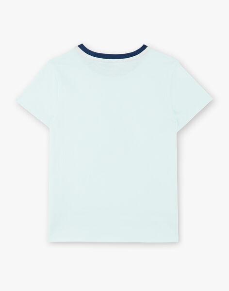 Wassergrünes T-Shirt aus Baumwoll-Jersey ZAGRILAGE / 21E3PGI2TMC614