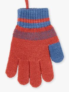 Blau und rot gestrickte Handschuhe ZAGANTAGE / 21E4PGM1GAN506