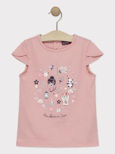 Rosa T-Shirt Mädchen TAYIBETTE / 20E2PFP1TMCD323