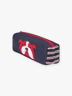 Marineblaues Federmäppchen mit Bulldoggen-Design für Jungen BETROSAGE / 21H4PG51TRO070
