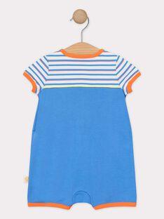 Blauer Babystrampler Jungen TEVELI / 20E5BGE2GRE201