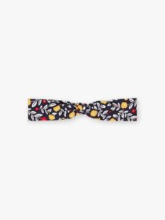Baby-Mädchen-Stirnband in Marineblau mit Blumendruck BAELSA / 21H4BF51BAN070