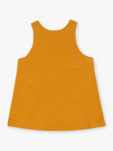 Baby Mädchen Safran gelbes Kleid BAESTELLE / 21H1BF51CHS109