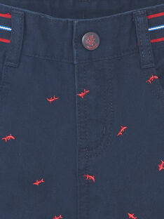 Bermudashorts marineblau Stickerei rot Kind Junge ZIMIAGE / 21E3PGT1BERC214