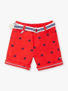 Bestickte rote Bermuda-Shorts und Baby-Jungen-Gürtel ZAOSCAR / 21E1BGT1BERF524