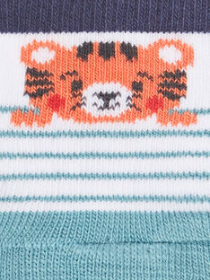 Tiger gestreifte ecru Socken ZAIAKOB / 21E4BGI1SOB001