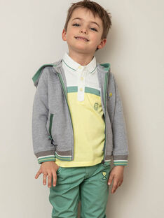 Grauer und grüner Hoodie für Jungen ZECOULAGE